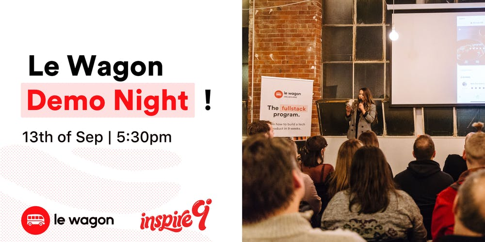 Le Wagon Coding Bootcamp Demo Night Event Party - 13th of