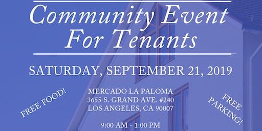 Community Events for Tenants/Evento Comunitario Para Inquilino(a)s