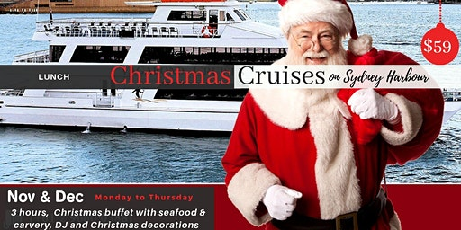 Christmas Party Lunch Cruises! on Sydney Harbour on NOV & DEC
