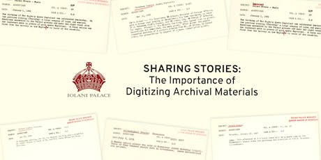 Sharing Stories: The Importance of Digitizing Archival Materials tickets
