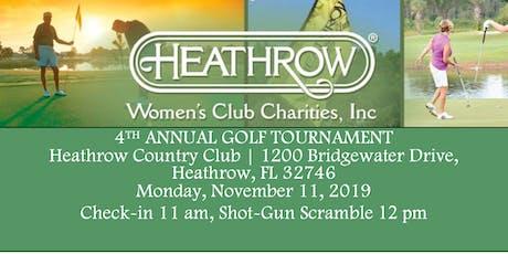 Heathrow Women's Club Annual Golf Tournament 2019 tickets