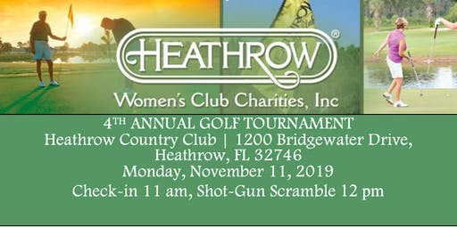 Heathrow Women's Club Annual Golf Tournament 2019