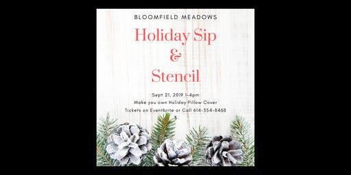 Holiday Sip & Stencil