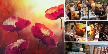 Poppy Art Painting Event at Craft Wine & Beer Bistro in Old Town tickets
