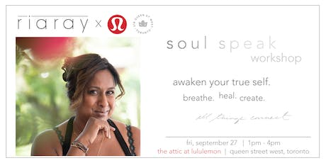 Soul Speak Workshop with Ria Ray tickets
