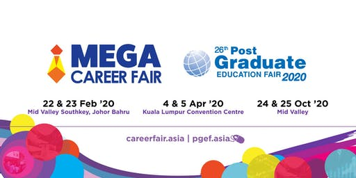 Mega Career Fair & Post Graduate Education Fair 2020 - Mid Valley Southkey