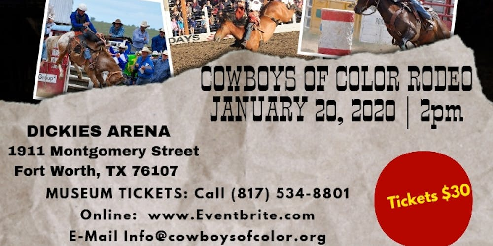 Rodeo Events 2020.Cowboys Of Color Rodeo Fort Worth Tickets Mon Jan 20