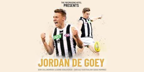JORDAN DE GOEY at The Freemasons Hotel tickets