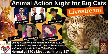 Animal Action Night for Big Cats- LIVESTREAM tickets