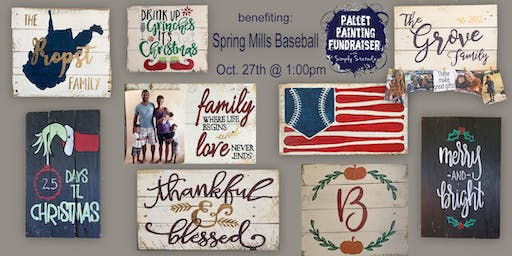 Pallet Painting Fundraiser Benefiting Spring Mills Baseball