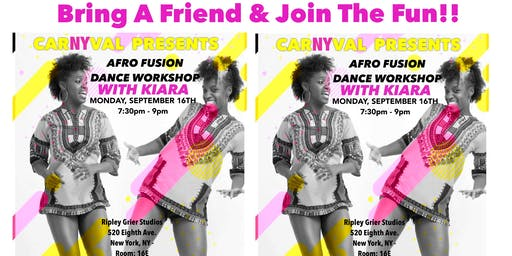 AFRO FUSION DANCE WORKSHOP WITH KI!