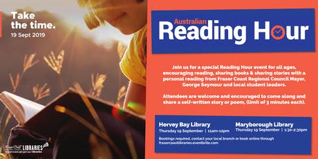 Reading Hour - Hervey Bay Library tickets