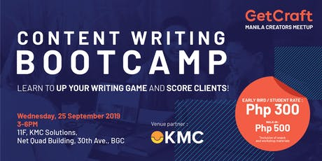 Content Writing Bootcamp: Learn To Up Your Writing Game and Score Clients! tickets