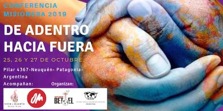 Conferencia Misionera Desde Adentro hacia Fuera 2019 entradas