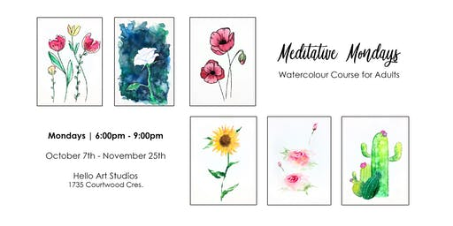 Meditative Mondays - Watercolour Course for Adults