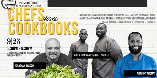 Private Chef, No Restaurant Week: Chefs with Cookbooks