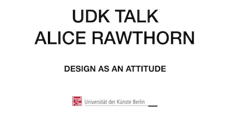 UDK TALK - Alice Rawsthorn Tickets