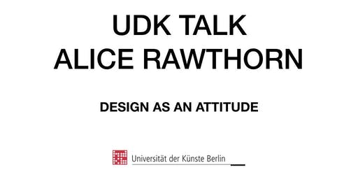 UDK TALK - Alice Rawsthorn