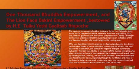 One Thousand Bhuddha and Lion Face Dakini Empowerment tickets