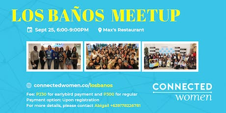 #ConnectedWomen Meetup - Los Banos (PH) - September 25 tickets