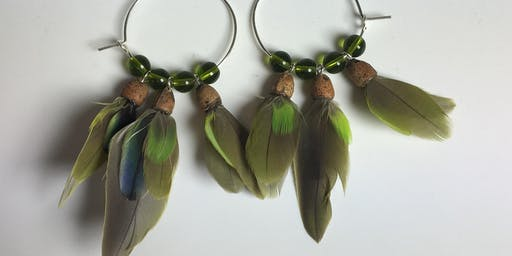 Friends of Feathers- Making Earrings with Feathers
