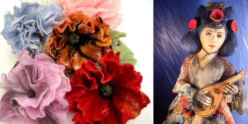 Free Artist Demonstrations: Felted Jewellery and Ceramics