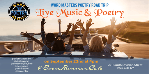 Word Masters Poetry Pop up at the Bean Runner Cafe in Peekskill