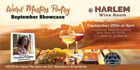 Word Masters Poetry Showcase at Harlem Wine Room tickets