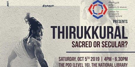 Thirukkural: Sacred or Secular? tickets