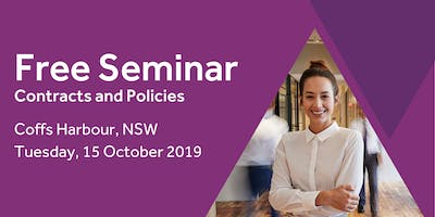 Free Seminar: Contracts and policies – Coffs Harbour, 15th October