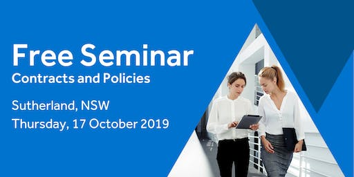 Free Seminar: Contracts and policies – Sutherland, 17th October