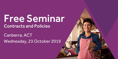 Free Seminar: Contracts and policies – Canberra, 23rd October