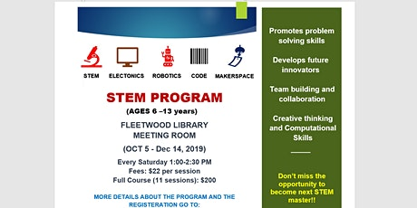 STEM/Robotics/Coding Program For Kids Surrey (Ages 6-13)-Individual sessions tickets