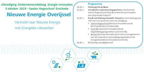 Ondernemersdialoog Energie Innovaties tickets