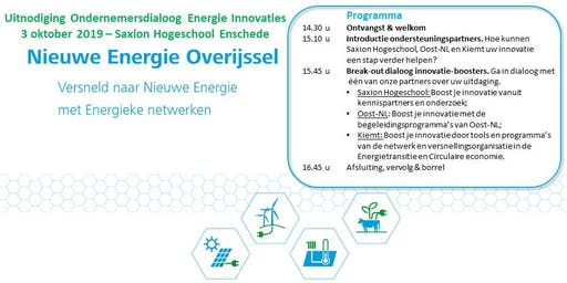 Ondernemersdialoog Energie Innovaties