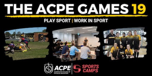 The ACPE Games l Play Sport l Work in Sport