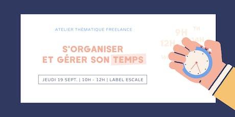Atelier freelance : s'organiser et gérer son temps billets
