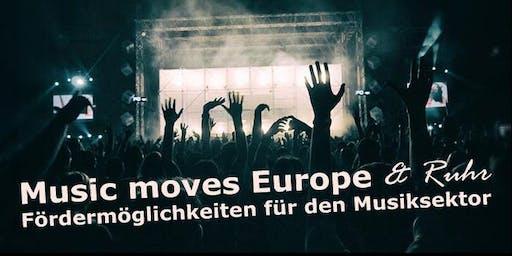 Music Moves Europe & Ruhr – Fördermöglichkeiten für den Musiksektor