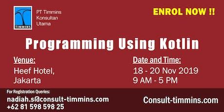 Programming Using Kotlin in Jakarta tickets