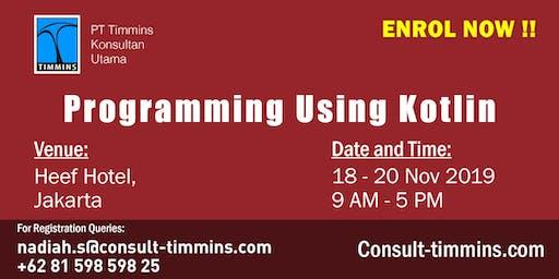 Programming Using Kotlin in Jakarta