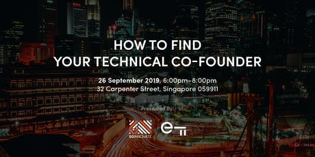 How to Find Your Technical Co-Founder tickets
