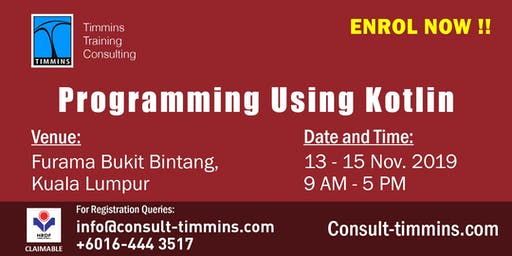 Programming Using Kotlin in Kuala Lumpur