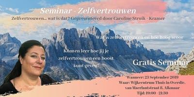 Gratis seminar - Zelfvertrouwen (voor vrouwen)