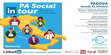 PA Social In Tour (Padova) - LinkedIn per enti e aziende pubbliche biglietti
