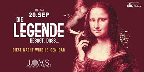 ABIZARRs Legendäre Party | Lippstadt 16+ Tickets