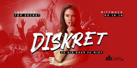 Diskret - Die Party in SOEST  16+ Tickets