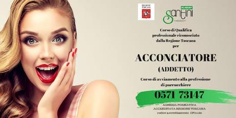 CORSO ACCONCIATORE ADDETTO tickets