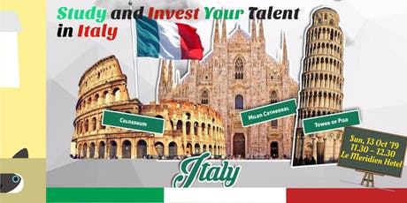 SEMINAR KULIAH DI ITALIA - STUDY AND INVEST YOUR TALENT IN ITALY tickets