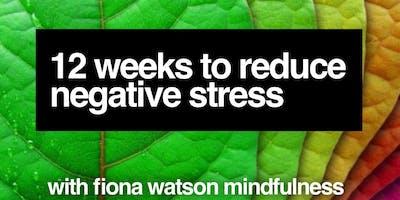 12 Weeks to Reduce Negative Stress – with Fiona Watson Mindfulness