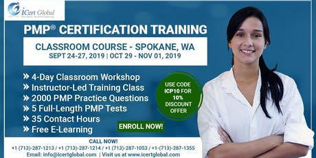 PMP® Certification Training Course in Spokane, WA, USA | 4-Day PMP Boot Camp  tickets
